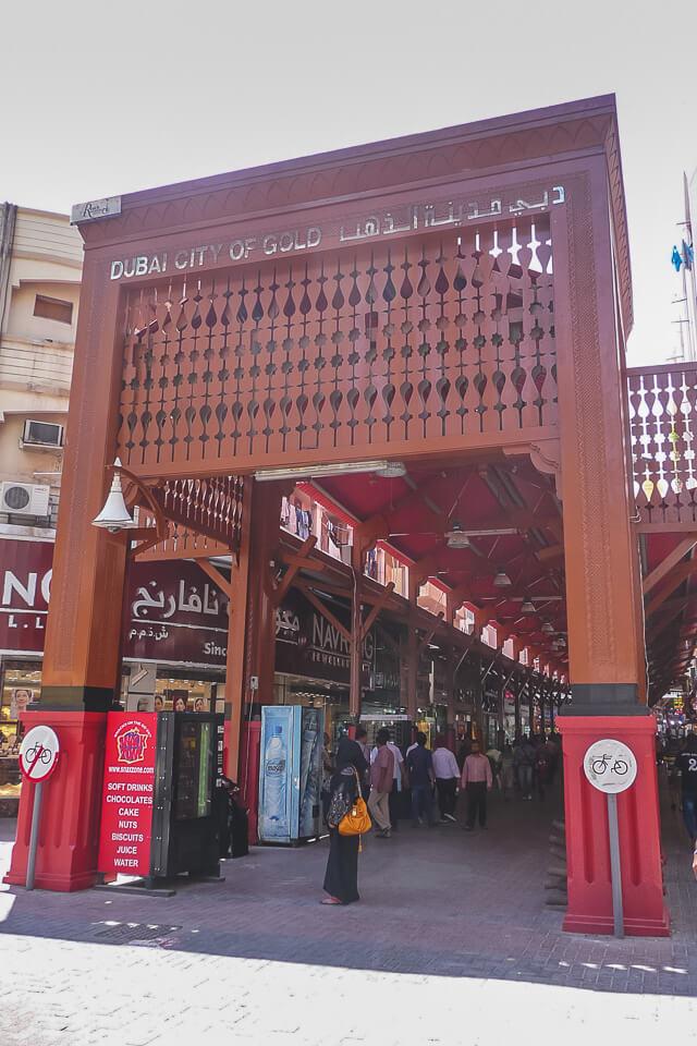O que ver e fazer em Dubai visite o mercado de ouro