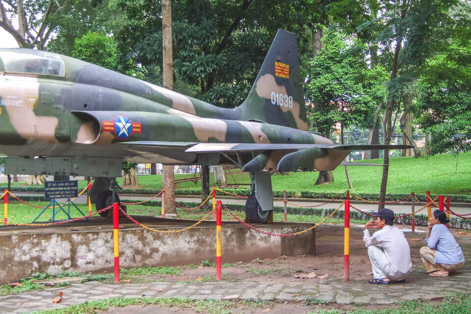 Lembranças da Guerra no vietna em Ho Chi Minh Vietna