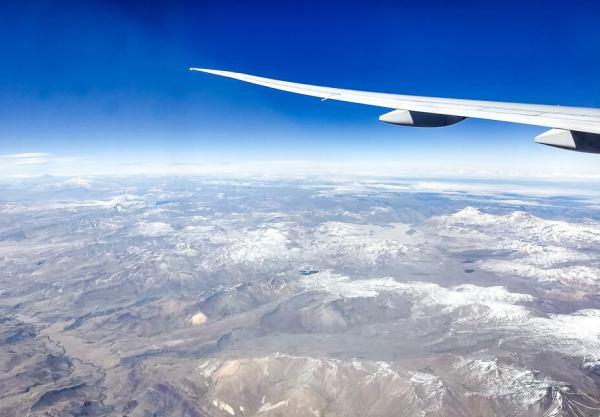 De que lado do avião sentar para ver as cordilheiras dos andes