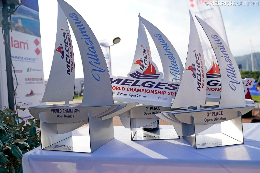 Melges 24 Worlds 2019 trophies. Photo © Pierrick Contin / IM24CA