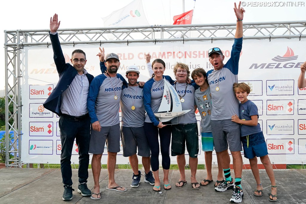 2019 Melges 24 Worlds second best - Monsoon USA851 of Bruce Ayres with Mike Buckley, Federico Michetti, George Peet and Chelsea Simms. Photo © Pierrick Contin / IM24CA