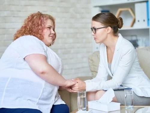 Mulher com problema de resistência à insulina