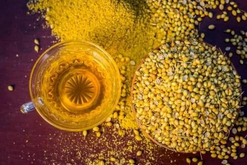 Chá de sementes de coentro
