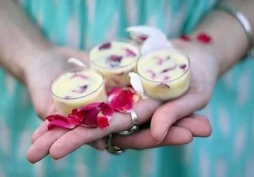 Protetor labial caseiro de rosas