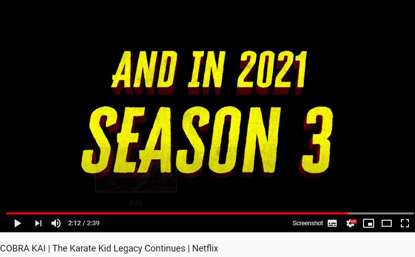 2021 data de lançamento cobra kai