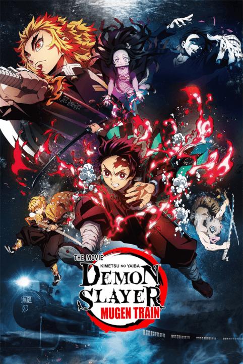 demon slayer kimetsu no yaiba 1ª temporada chegando para netflix o pôster do filme