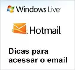 Não consigo Entrar email Hotmail