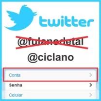 Trocar nome Twitter