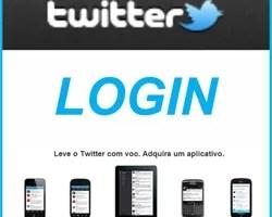 Twitter login Celular