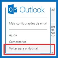 Outlook voltar Hotmail