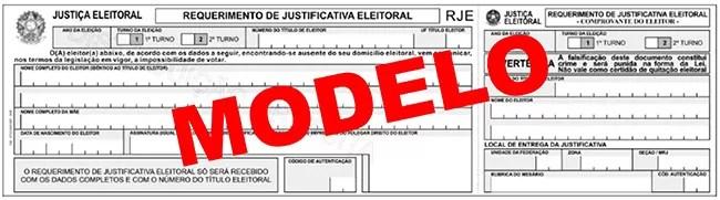 Download justificativa Eleições 2012