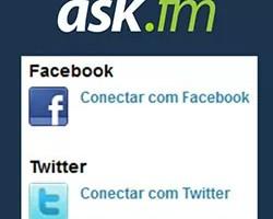 Conectar desconectar ask.fm Facebook Twitter