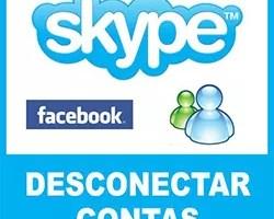 Desconectar Skype Facebook MSN Messenger
