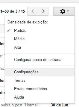 Configurações Gmail