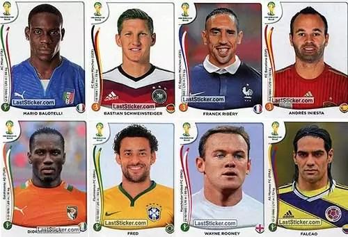 Figurinhas Álbum Copa 2014