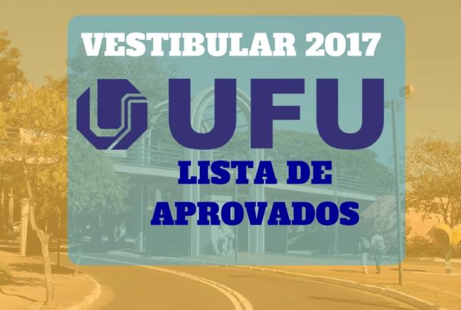 Resultado VESTIBULAR UFU 2017