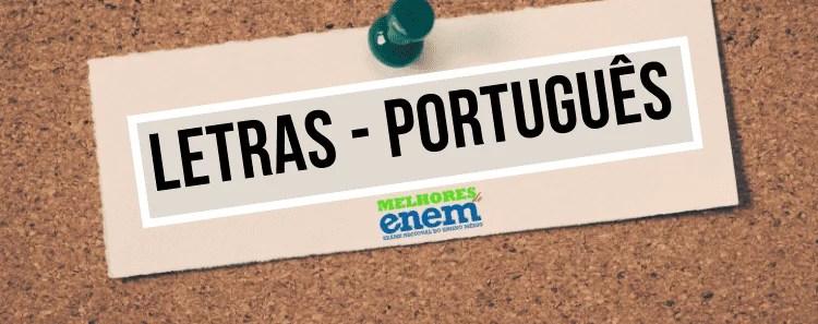 notas de corte Letras - Português sisu 2020