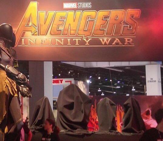 Quarteto Fantástico em Vingadores - Guerra Infinita (D23 Expo)