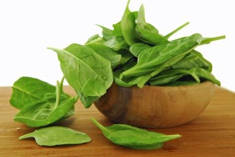 O espinafres são ricos em ferro e uma boa fonte de energia