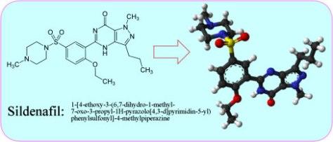 Formula quimica do Viagra ou Sildenafil