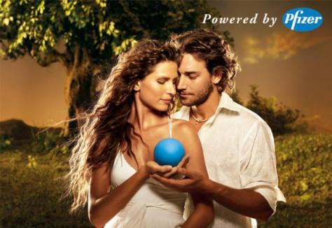 Imagem da campanha do VIAGRA da Pfizer