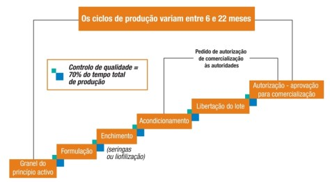 Vacinas, ciclo de produção