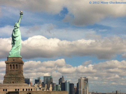 It was a picture perfect day! Lady Liberty monitors the NY harbor as she has done since 1886, when she was the tallest structure in NYC and the tallest statue in the world!