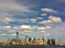 The view from the ferry as we returned to Battery Park. Breathtaking!