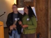 Glenn and Maria introduce the talking stick.