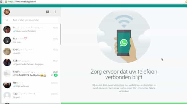Connected whats app web