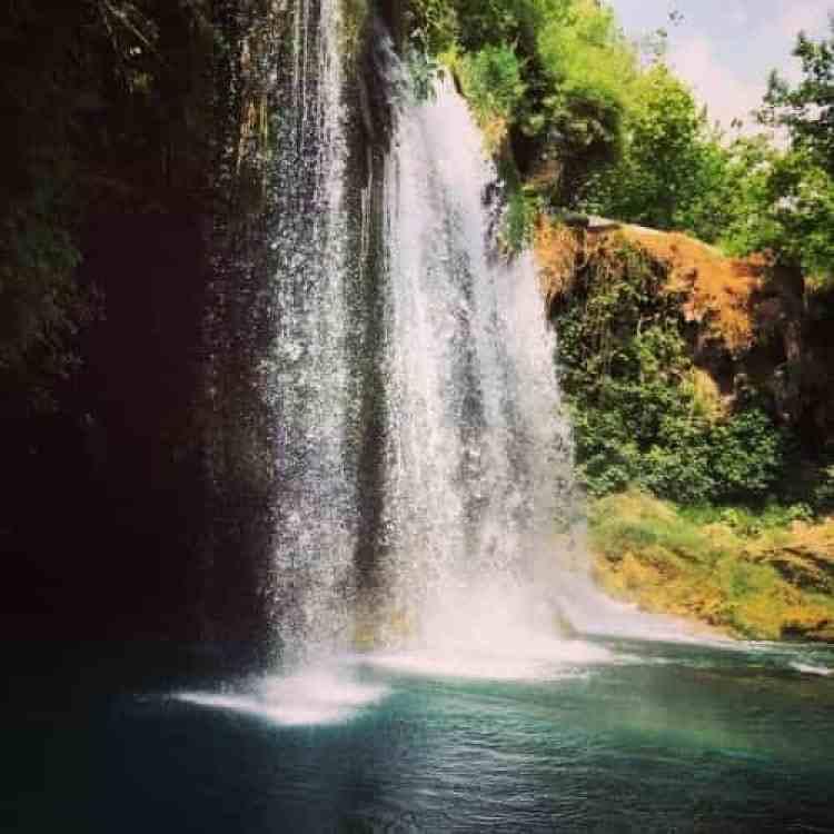 Düden watervallen close-up
