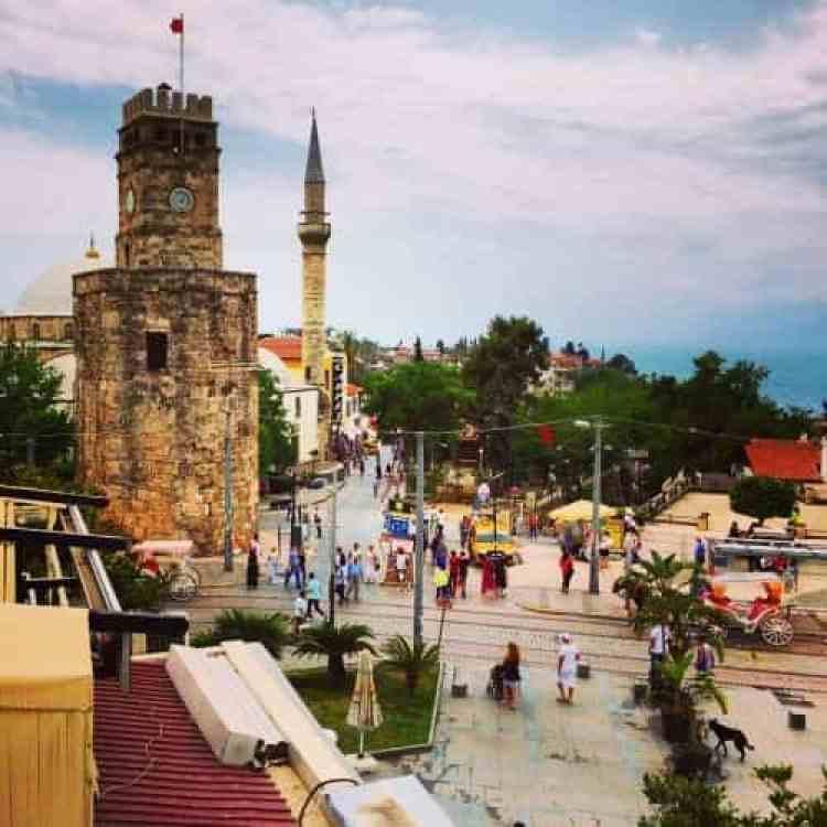 Clock Tower-Antalya oude stadscentrum