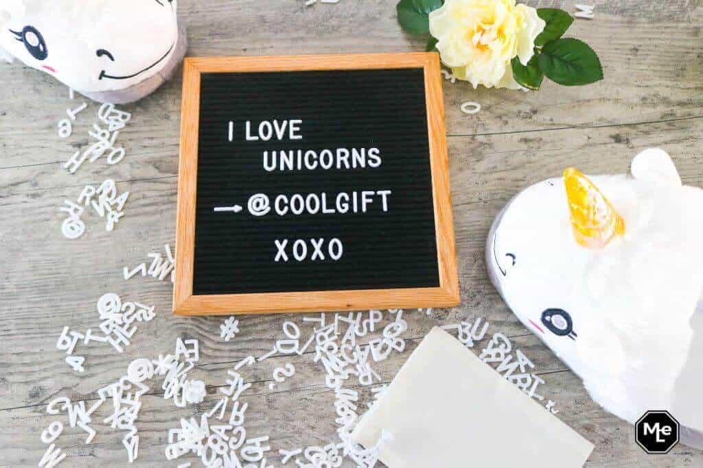 I love Unicorns - letterboard