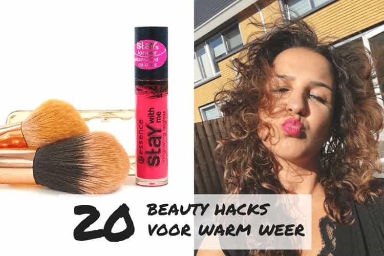 beauty hacks voor tijdens warme dagen