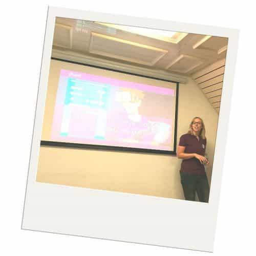Yoast blog event - Annielieke presenteert over GA en SC