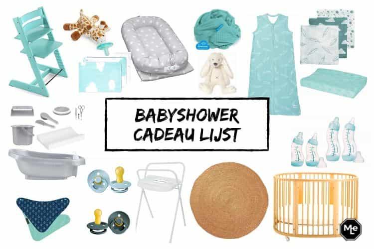 babyshower cadeau lijst