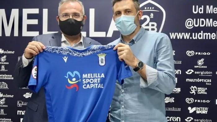 Luisma Rincón y Manolo Herrero UD Melilla