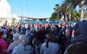 concentración frontera Beni Enzar
