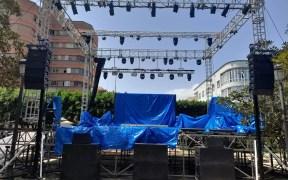 Escenario feria de Melilla