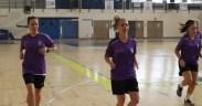 Guti, en el centro de la imagen, en la sesión de entrenamiento de ayer.
