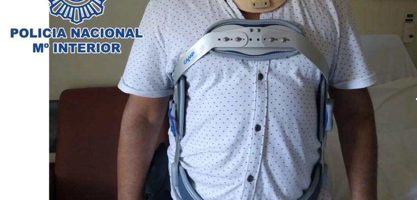 policía nacional herido el pasado día 4 en Cabrerizas