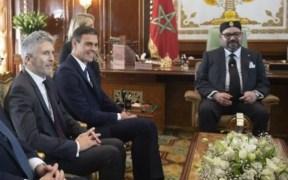 Mohamed VI, Pedro Sánchez y Marlaska