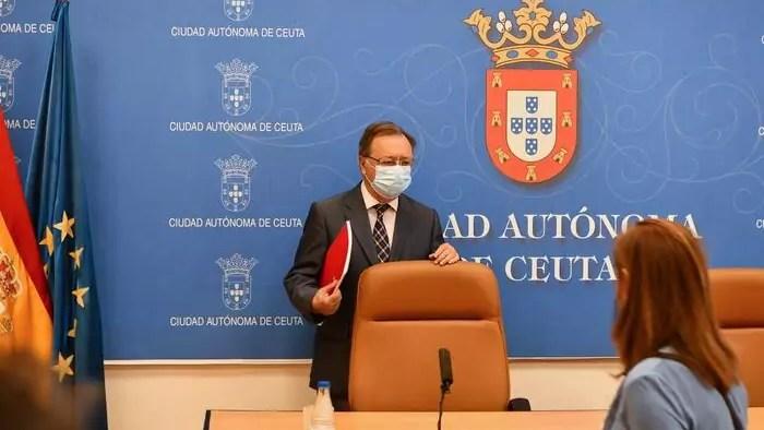 El presidente de la Ciudad Autónoma de Ceuta, Juan Jesús Vivas