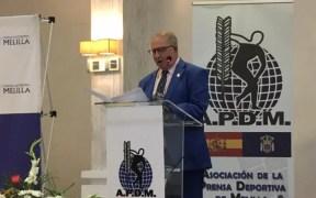 Avelino Gutiérrez durante su discurso