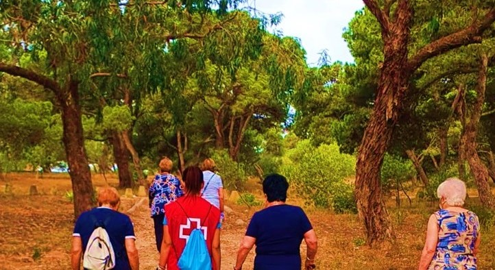 Imagen de una de las caminatas