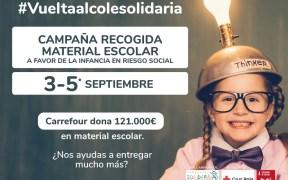 Cartel de 'Vuelta al Cole Solidaria'