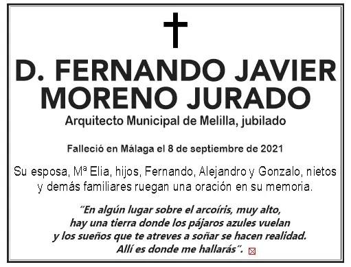 ESQUELA- D. Fernando Javier Moreno Jurado