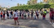 Socorristas protestan en la puerta de la Asamblea