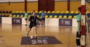 Julia, en un entrenamiento en el Pabellón Lázaro Fernández.