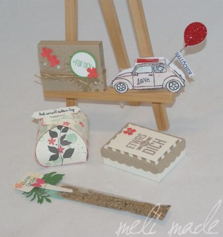 Für Dich-Box: Elke Kaffenberger, Auto: Geli Knebler, Für Dich Schachtel: Birgit Flechtker, Saatguttütchen: Kerstin/Stempelschatz, Zierschachtel: Unbekannt